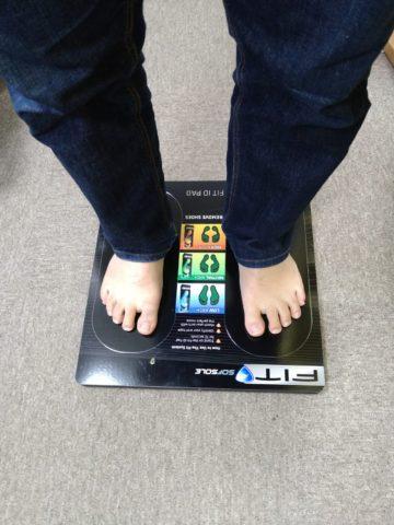 重心の測定